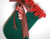 felted wool heirloom Christmas stocking