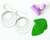 Silver hoop earrings guitar strings