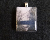Original Photo Tile Pendant-TriBoro RFK & Hell Gate Bridge NYC