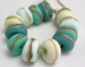 Mermaid - Organic Essentials small set - Mermaid Glass Lampwork Beads