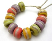 Handmade Lampwork Glass Beads - Organic Essentials - Harvest