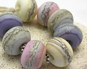 Organic Handmade Glass Lampwork Beads - Dawn Beach