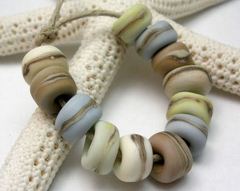 Handmade Lampwork Glass Beads - Organic Essentials - Shore