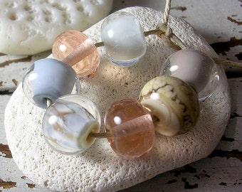 Organic Handmade Glass Lampwork Beads - Vintage Beach