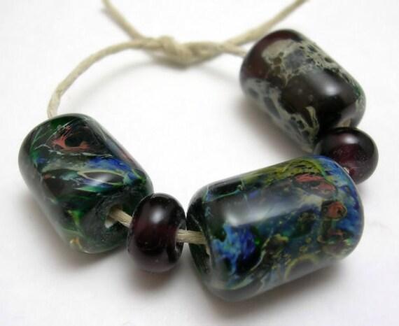CLEARANCE - Handmade Lampwork Glass Beads - Pacifica
