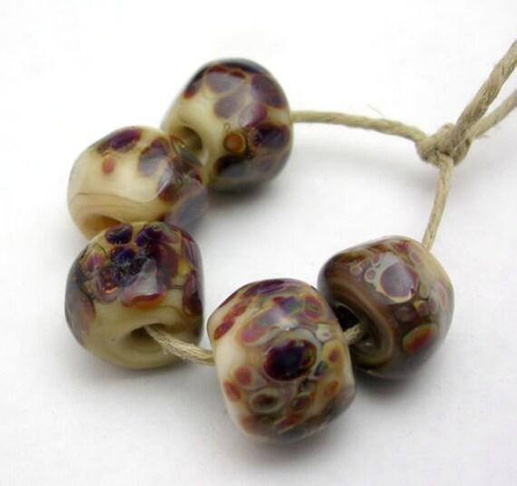 Mermaid Glass Handmade Lampwork Beads - Organic Chalcedony Nuggets