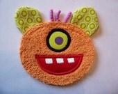 One Eye Orange Monster Patch