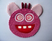 Kooky Eye Pink Monster Guy Patch