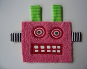 Pink Girly Robot Patch
