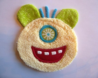 Yellow Face Monster Patch