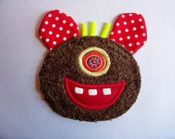 Goofy Brown One Eye Monster Patch