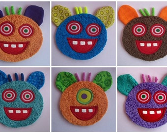 6 Funny Monster Patches