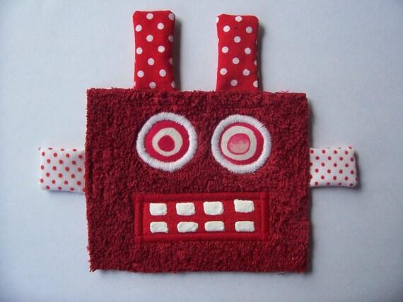 Kooky Eye Red Hot Robot Guy
