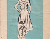 UNCUT 60s Dress and Jacket - Mail Order Pattern - Size 10 -