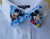 Bow tie made with Mickey Mouse fabric