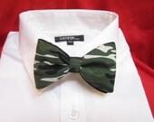Camo clip on bow tie