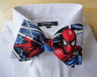 Bow tie made from Spiderman Comics Fabric