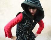 Everything All the Time - iheartfink Handmade Hand Printed Hoodie Art Print Vest Jacket