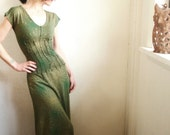 Look No Further - iheartfink Handmade Hand Printed  Full Length Maxi Dress Gown