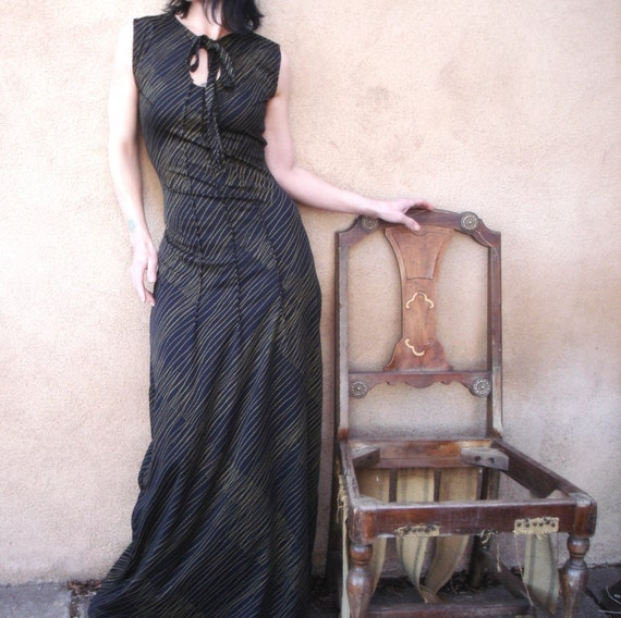 Trouble in Paradise - Made To Order - iheartfink  Full Length Maxi Dress Gown