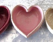 trio of ceramic heart bowls
