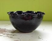small black serving bowl