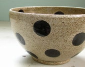 made to order - polka dotted cereal bowl