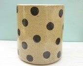 large pottery kitchen utensil crock spoon jar - made to order