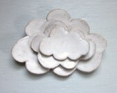 made to order - nesting cloud plates white trinket dishes tea bag holder sushi plates spoon rest pottery ceramic