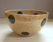 ceramic pottery bowl cereal ice cream soup polka dotted ready to ship