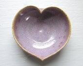 purple ceramic heart bowl  - 3 3/4 inches - perfect Valentine's Day gift