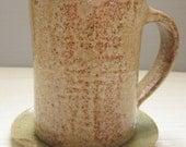 woodland coffee mug with lily pad coaster