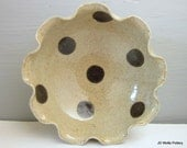 polka dotted serving bowl - 7 inches