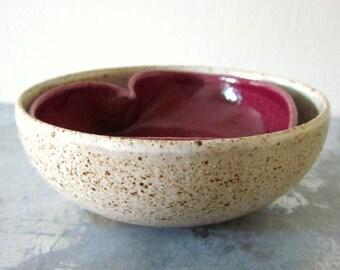 pair of miniature ceramic bowls