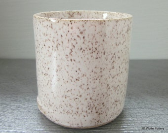 made to order - 4 white handleless cups or wine glass clay tumblers- small, modern