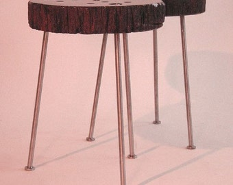 Mahogany Pedz Side Tables