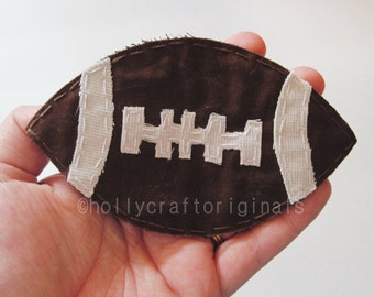 Football Applique, Football Patch, Sport Applique, Fabric Football, Football, Scrapbook Football, Football EmbellishmentMade to Order, Patch