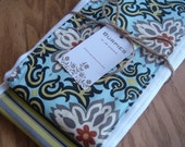 Fabulous set of 2 burp cloths for hip baby and mama with TAG in Baby Blues