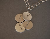 4 name dangle necklace