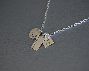 live laugh love tiny necklace