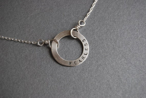 Washer Personalized necklace
