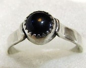 Blue Lab Sapphire and Sterling Silver Ring - Size 6
