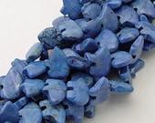 Six Blue Lapis Howlite Zuni Style Bear Fetish Beads Bright Azure Sky Cobalt Navy Cornflower Southwestern Gemstone Gem Denim Soft Pale Strong