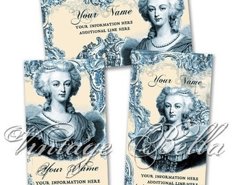 MARIE ANTOINETTE Business Cards by Vintage Bella Professionally Printed