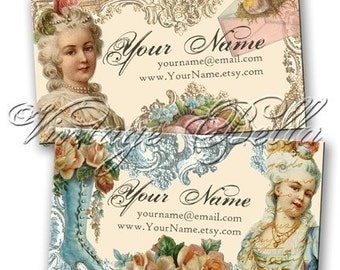 More Marie Antoinette Professionally Printed Business Cards by VINTAGE BELLA