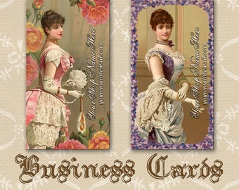 Victorian Corset Ladies Business Cards By VINTAGE BELLA Professionally Printed