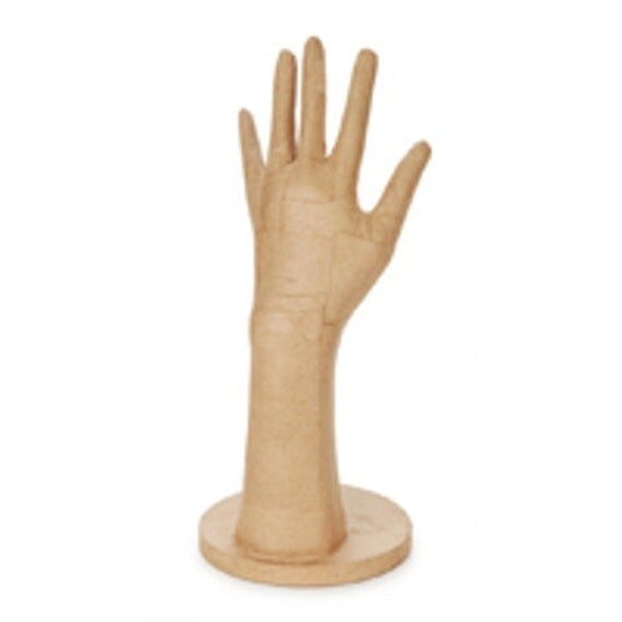 paper mache hand form