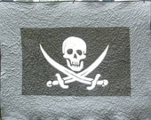 AaarGH Pirate Quilt Original Calico Jack Jolly Roger blanket - Ready to ship