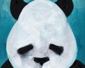 Panda Art. Papa Bear.  Art Print. Illustration. Awesome Baby Shower Gift. Children's illustration, kids art print, poster