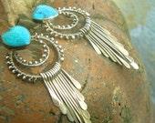 SEDONA FUN - Sterling Earrings, Sterling Silver, Turquoise